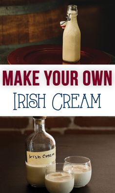 How to Make Your Own Irish Cream: So much better than the stuff from the store! This stuff is perfect for serving during the Holidays & great for #gifts as well!