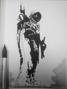 ArtStation - Inktober Alexander J // billiedonald // Sketch Manga, Drawing Sketches, My Drawings, Inktober, Ink Illustrations, Illustration Art, Pen Art, Copics, Poster