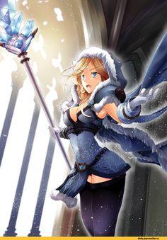 #Dota2 ふぃかる@2日目東Q-09b,Rylai the Crystal Maiden,Dota,фэндомы,Dota Art