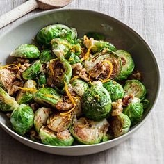 Sauteed Brussels Sprouts with Orange and #Walnuts | health.com