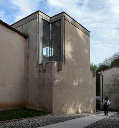 carlo scarpa, architect: gipsoteca del canova, extension of the canova museum in possagno, italy 1955-1957. exterior.