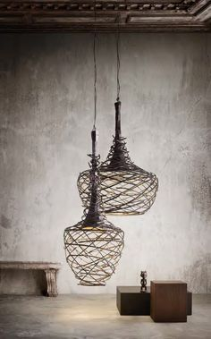 NEST - Suspension lamp made of iron tubing by Elite To Be.