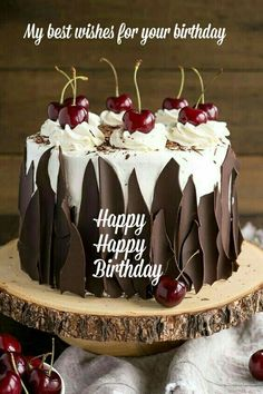 Happy Birthday Wishes, Quotes & Messages Collection 2020 ~ happy birthday images Happy Birthday Wishes Cake, Happy Birthday Frame, Happy Birthday Cake Images, Birthday Wishes And Images, Happy Birthday Celebration, Happy Birthday Sister, Happy Birthday Messages, Birthday Love, Happy Birthday Greetings