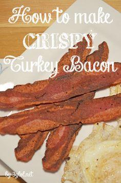 How to make CRISPY Turkey Bacon. Eating healthy but like crispy bacon ...