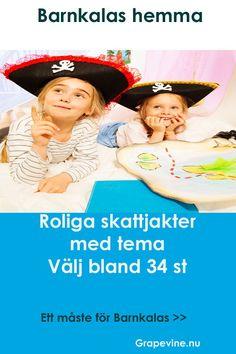 Köp en spännande och rolig skattjakt med pirattema till barnkalaset. #skattjakt #kalas #kalaslekar #barnkalas #grapevine