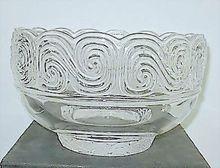 "Louis Comfort Tiffany Glass  9"" Bowl - Signed, Shop Rubylane.com"