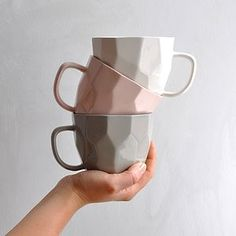 Geometric Cup - warm minimal homeware