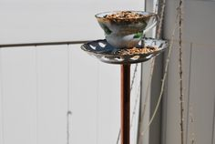 Upcycled Vintage Teacup and Saucer Bird by MysticalFaeryGarden
