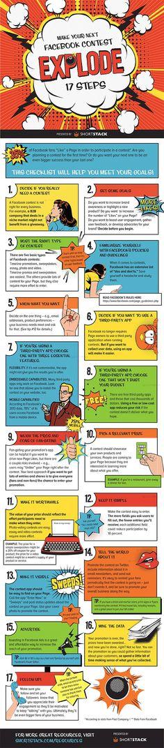 INFOGRAPHIC: 17 Steps Toward A Successful Facebook Contest - AllFacebook