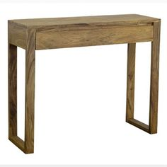 Small wooden console table in rosewood timber