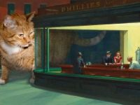 Edward Hopper, Nighthawks and Nightcats from fatcatart.ru  Great site.