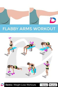 Fitness et Exercices Flabby Arms Workout Pilates Video, Pilates Workout, Gym Workouts, At Home Workouts, Workout Diet, Flabby Arms, Yoga Routine, Workout Challenge, Workout Plans