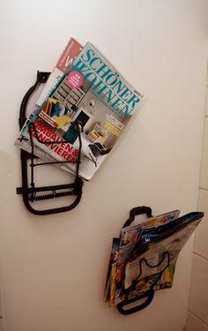 Bad- Geäckträger alter Fahrräder Bicycle als Zeitungsständer