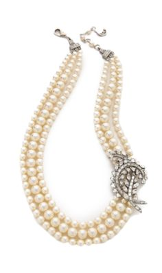Ben Amun Crystal-Pearl Necklace