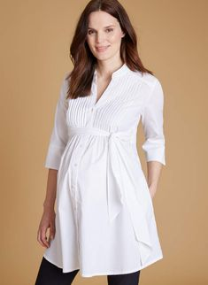 Libby Long Line Maternity Shirt.#ad