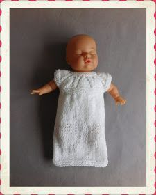Well .... once I started to write the instructions for angel baby burial gowns ..... I really had to add this ....... hope you like it - ...