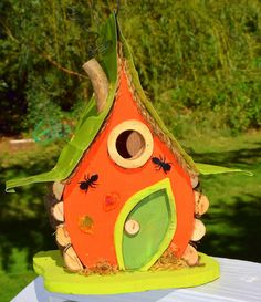 Pumpkin Pumpkin Birdhouse Harvest Bird House by PapaJonsflyinns