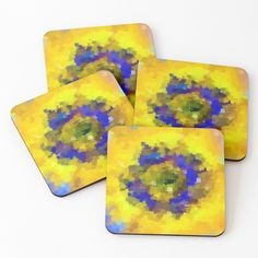 'abstract flower' Coasters by Abstract Flowers, Coasters, Bottles, My Arts, Art Prints, Mugs, Printed, Awesome, Artist
