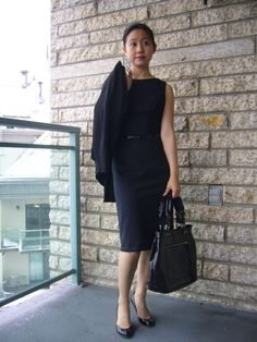 FREE SEWING PATTERN for this classic Audrey Hepburn inspired little black dress LBD! Belted Simple sheath in a slim Silhouette with pencil style skirt and with a surprise back!