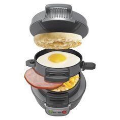 HAMILTON BEACH Dark Gray Breakfast Sandwich Maker : Target Mobile
