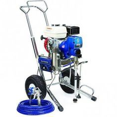 """The Graco 16W863 (Old# 248664) GMax 3400 Hi-Boy Standard Series Gasoline Airless Sprayer comes complete with the Graco Contractor Spray Gun, RAC-X 517 Switch Tip and Guard and 50'x 1/4"""" BlueMax Airless Hose.With a 120 cc Honda engine, the GMAX 3400 is the ideal gas-powered airless sprayer for the entry-level contractor who is looking for maximum power in a lightweight, portable package.In addition, The Standard Series sprayer comes with these Only On A Graco features:Advantage Drive System…"""
