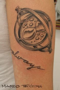 luvluvluv♥ vira-tempo - time turner tattoo -