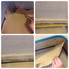 How to replace inside lining of vintage suitcase. For craft show table display.