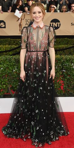 See All the Celebrity Looks from the 2017 SAG Awards Red Carpet - Claire Foy from InStyle.com
