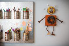 Kids pencils and other art work stuff board. http://renatamccartney.com.br/site/