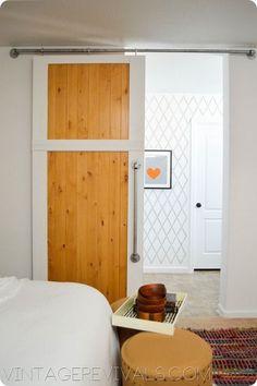 How To Build A SIMPLE Sliding Barn Door