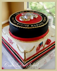 marine corps groom's cake | marine corps wedding ideas | Pictures from: Wedding- Groom's Cakes