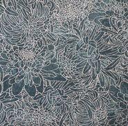 Legacy Studio Cotton Fabric- Metallic Aster Outline Blue