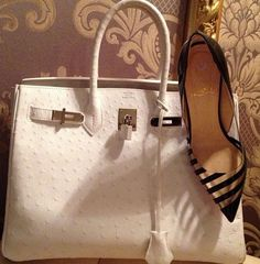 Classic Ostrich Hermes & Louboutin..