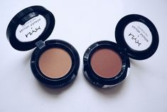 Nyx dupes for Saddle and Soft Brown. Dance the tides and Blame it on midnight.