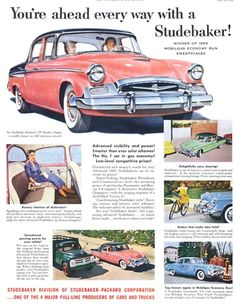 1955 Studebakers Pink and Black