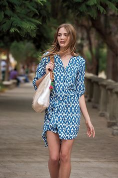 Maeve's Ikat Frequencies shirtdress (Anthropologie)