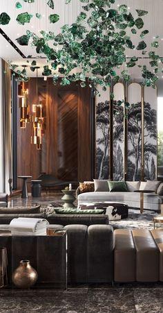 Interior design customised by Studia 54 Luxury Homes Interior, Luxury Home Decor, Modern Interior Design, Hotel Bedroom Design, Apartment Interior, Luxury Living, Interiores Design, Home Decor Inspiration, Future House