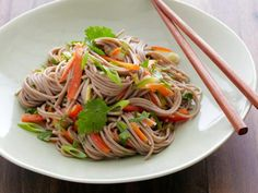 Buckwheat Noodle Salad #MyPlate #Grains #Veggies #ChineseInspired