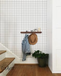 Checkers Wallpaper - Removable Wallpaper - Minimalistic - Reusable - Self Adhesive - Wall Decor - Wall covering - Simple Pattern - 30