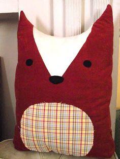 Hello, ReFabulous!: Christmas crafting, part 2 -- DIY fox pillow