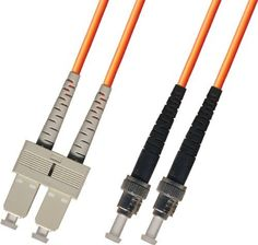 2M Multimode Duplex Fiber Optic Cable (62.5/125) - SC to ST by Ultra Spec Cables. $10.99