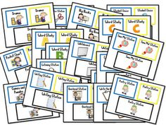 Mrs. Wills Kindergarten: Station Signs Freebie (go along with the Deb Diller pocket chart/signs)