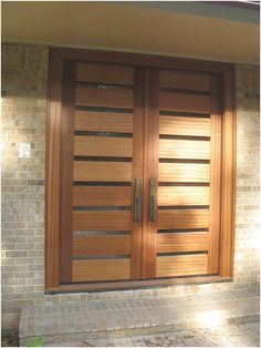 black double front doors modern awesome door designs for home fr modern double f. Modern Patio Doors, Entrance Doors, Entry Doors, Wooden Front Doors, Glass Panel Door, Wooden Doors, Front Door Design