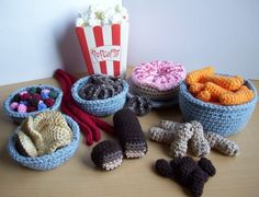 crochet food could I have the pattern for the two I just pinned you see I make all items for young and older to shelters for ex mass and to the hospitals