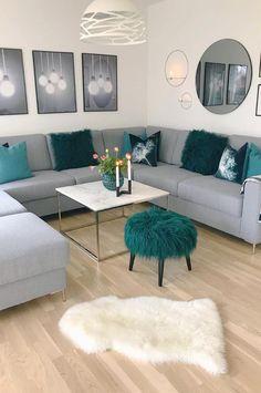 Modern Living Room Colors, Living Room Ideas 2019, Design Living Room, Living Room Color Schemes, Paint Colors For Living Room, Living Room Grey, Modern Room, Living Room Sofa, Living Room Interior