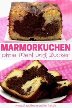 Are you looking for a quick and easy recipe for a low carb marble cake? Then you should definitely try this recipe for a gluten-free marble cake without sugar and flour. The low carb marble cake is ba Mini Cheesecake Recipes, Low Carb Cheesecake, Cupcake Recipes, Dessert Recipes, Baking With Coconut Flour, Low Carb Deserts, Coconut Desserts, Marble Cake, Mini Foods
