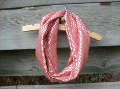 Toddler Infinity Scarf Pink Coral Red Silver by robinwixom on Etsy