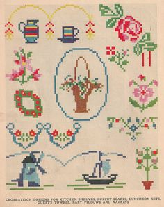 Vintage cross stitch chart from Sentimental Baby.