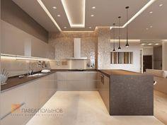 Дизайн интерьера кухни - yeah, whatever he/she said. digging the lighting Open Plan Kitchen Living Room, Kitchen Room Design, Luxury Kitchen Design, Kitchen Layout, Home Decor Kitchen, Interior Design Kitchen, Home Kitchens, Kitchen Ideas, Modern Kitchen Cabinets