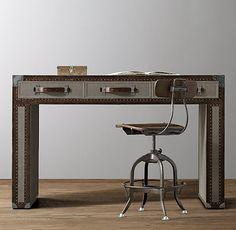 Antique Steamer Trunk Desk